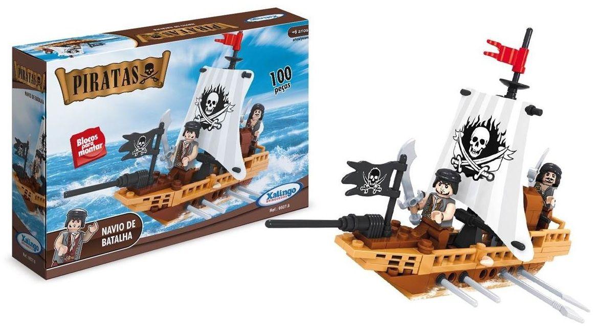 Blocos Piratas Navio de Batalha 100 Peças - Xalingo