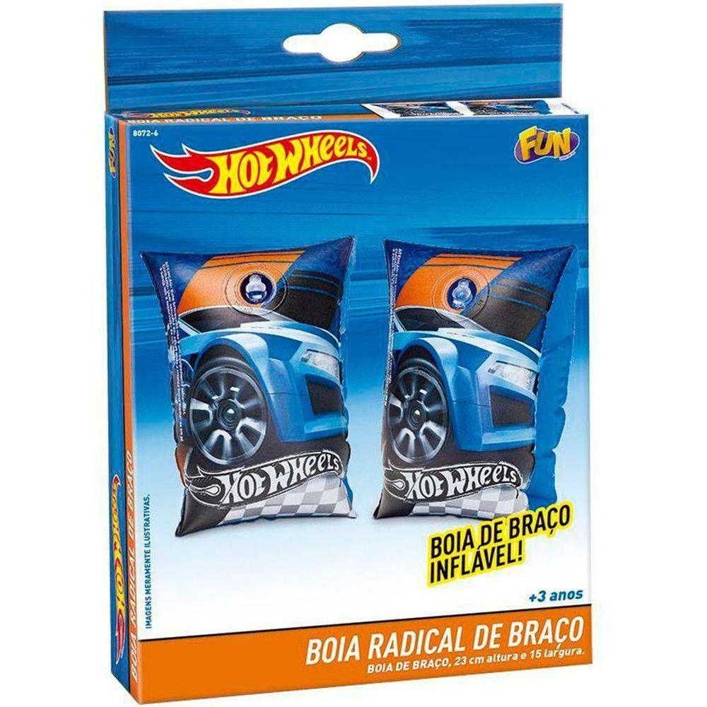 Boia de Braço Inflável Radical Hot Wheels - FUN