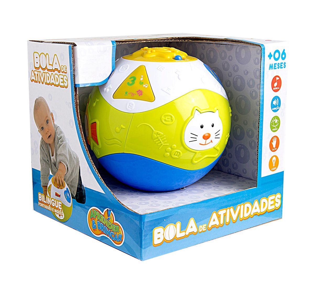 Bola de Atividades Bilíngue - Zoop Toys