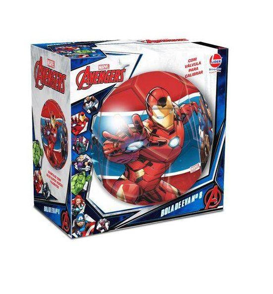 4d70bd2ebf ... Bola de EVA Nº 8 Marvel Avengers - Lider Brinquedos - Descalshop
