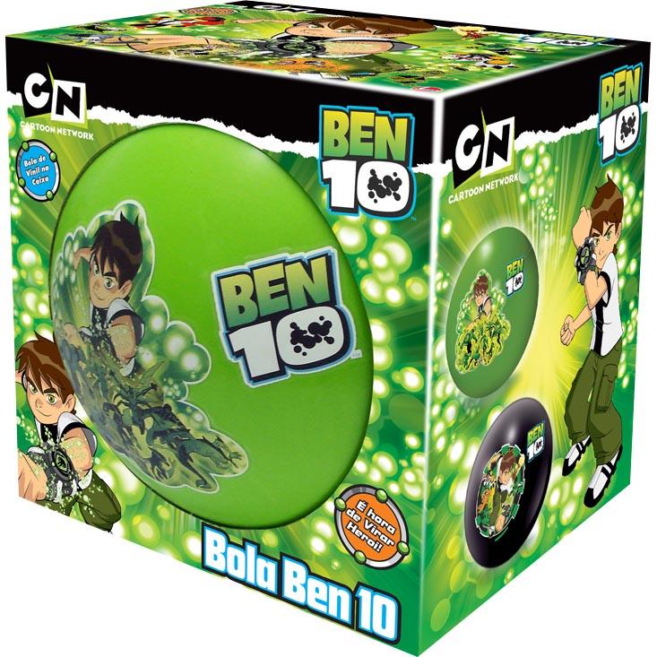 Bola de Vinil na Caixa Ben 10 - Lider Brinquedos