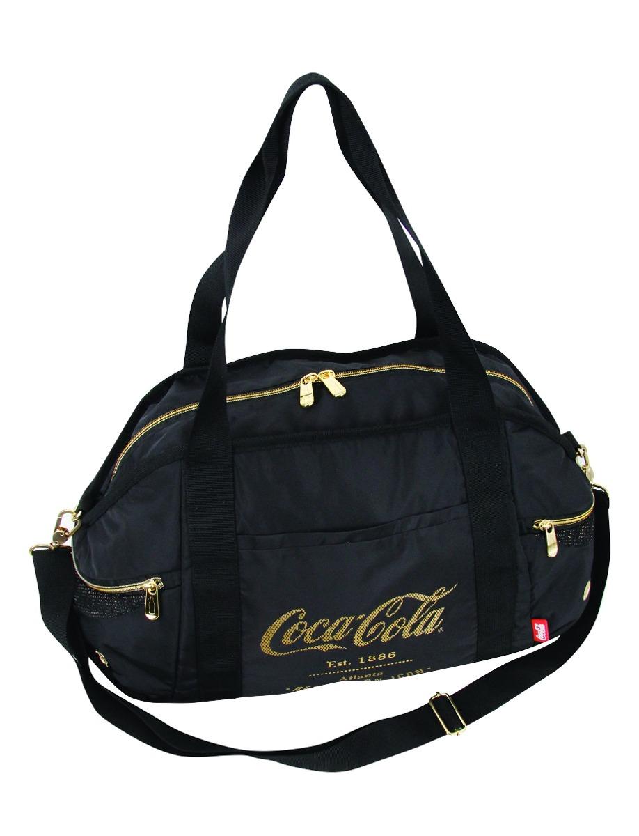 Bolsa Grande Coca Cola Atlanta Preta/Dourada - Pacific