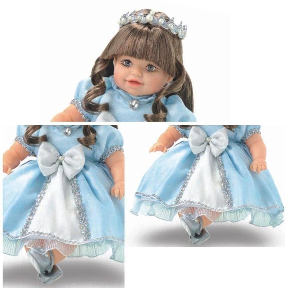 Boneca Addara Princesa Azul Fala 51 Frases - Anjo Brinquedos