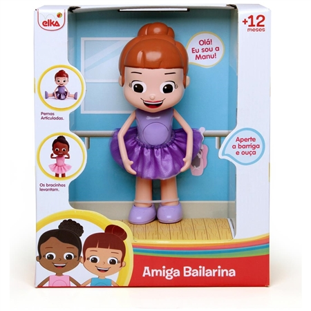 Boneca Amiga Bailarina Manu - Elka