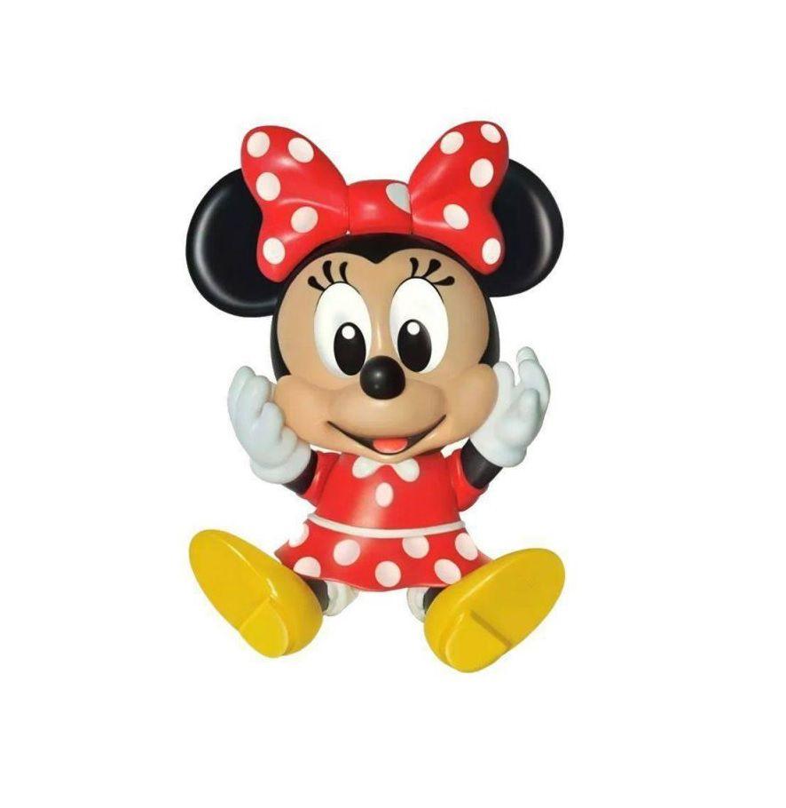 Boneca Articulada Minnie Mouse em Vinil - Lider Brinquedos