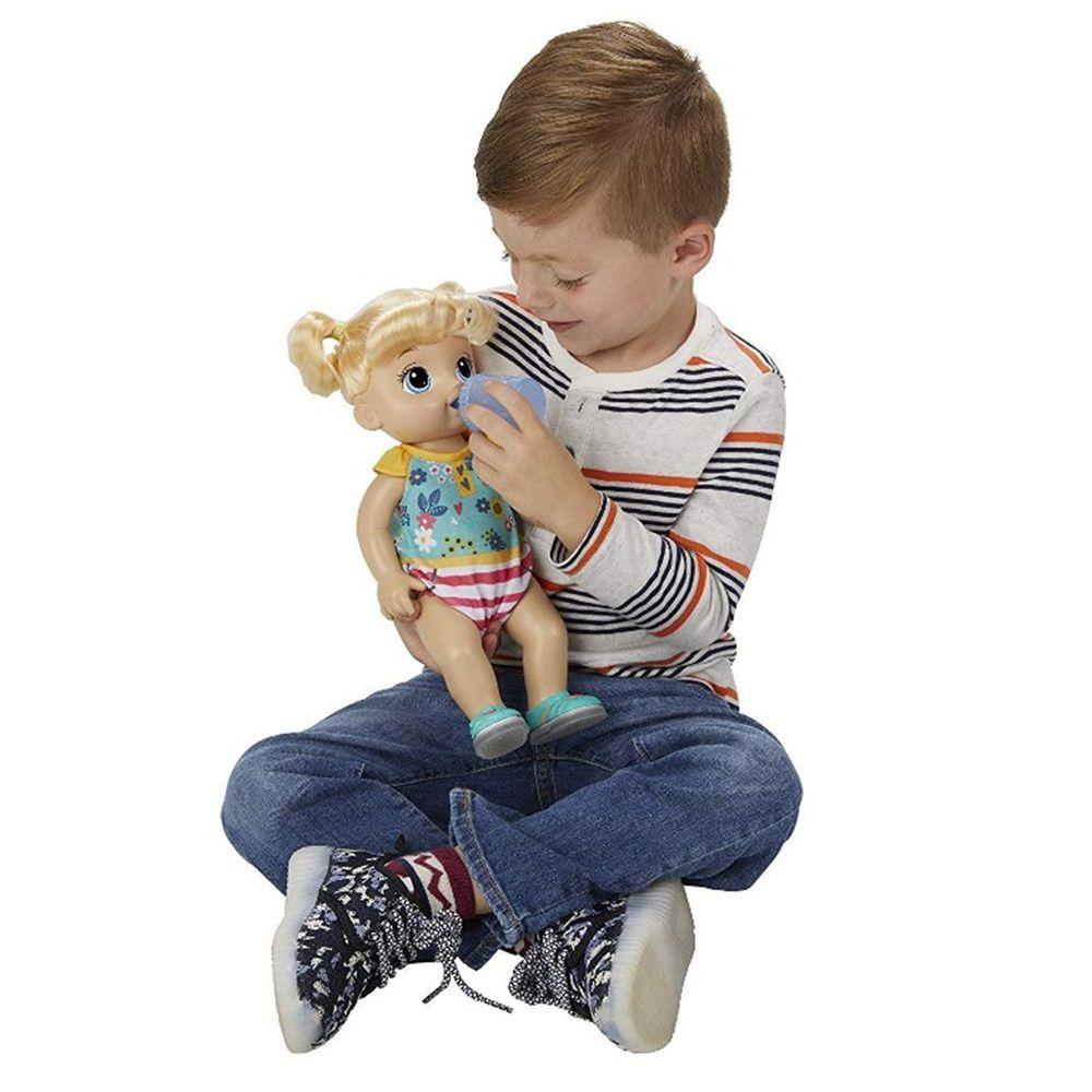 Boneca Baby Alive Bebê Passos e Sorrisos Loira - Hasbro