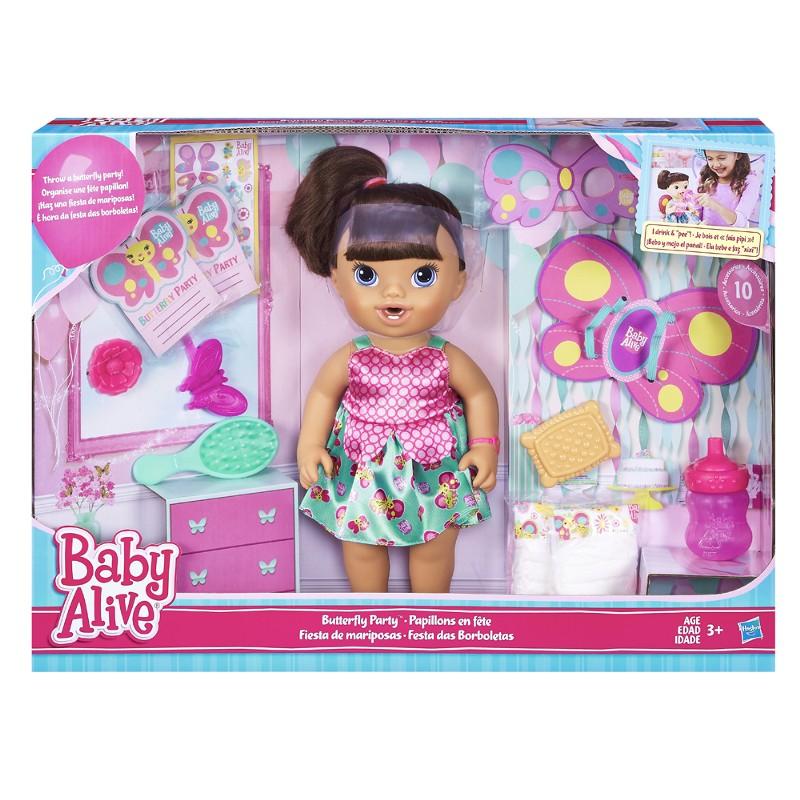 Boneca Baby Alive Festa das Borboletas Morena - Hasbro
