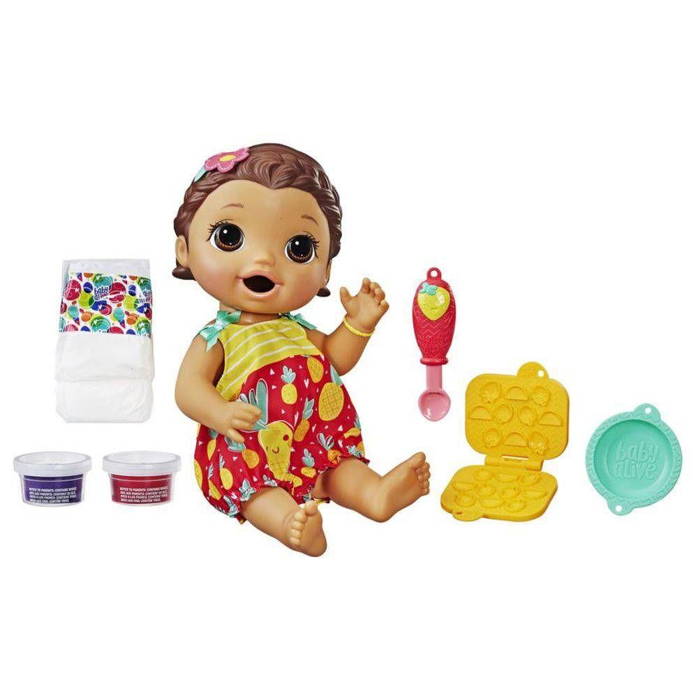 Boneca Baby Alive Lanchinhos Divertidos Morena - Hasbro