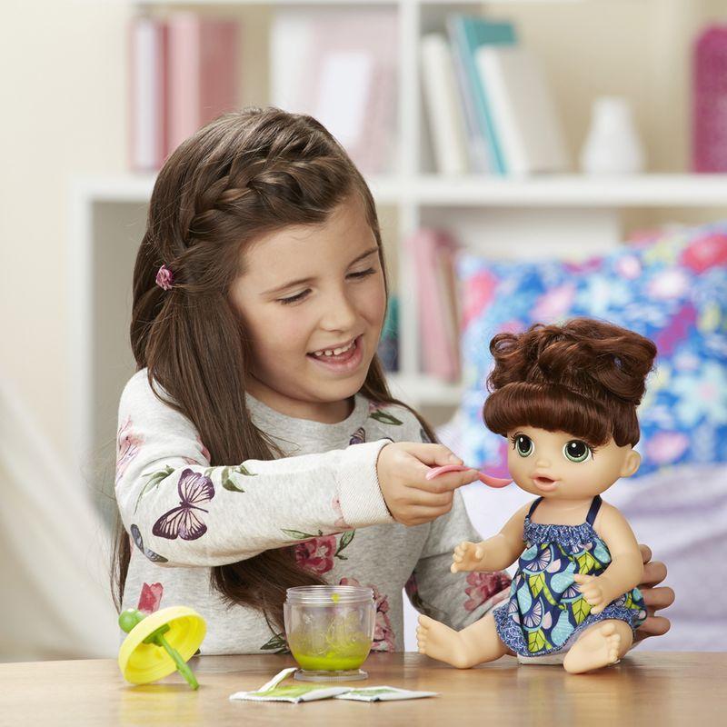 71d9ec3dc5 ... Boneca Baby Alive Papinha Divertida Morena - Hasbro - Descalshop ...