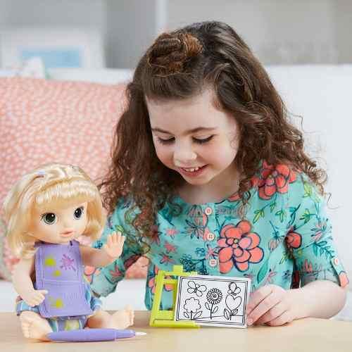 Boneca Baby Alive Pequena Artista Loira - Hasbro