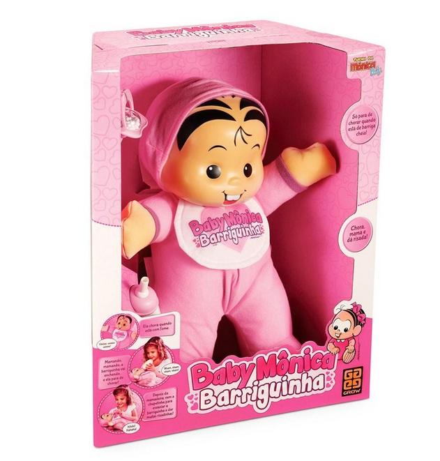 Boneca Turma da Mônica Baby Mônica Barriguinha - Grow
