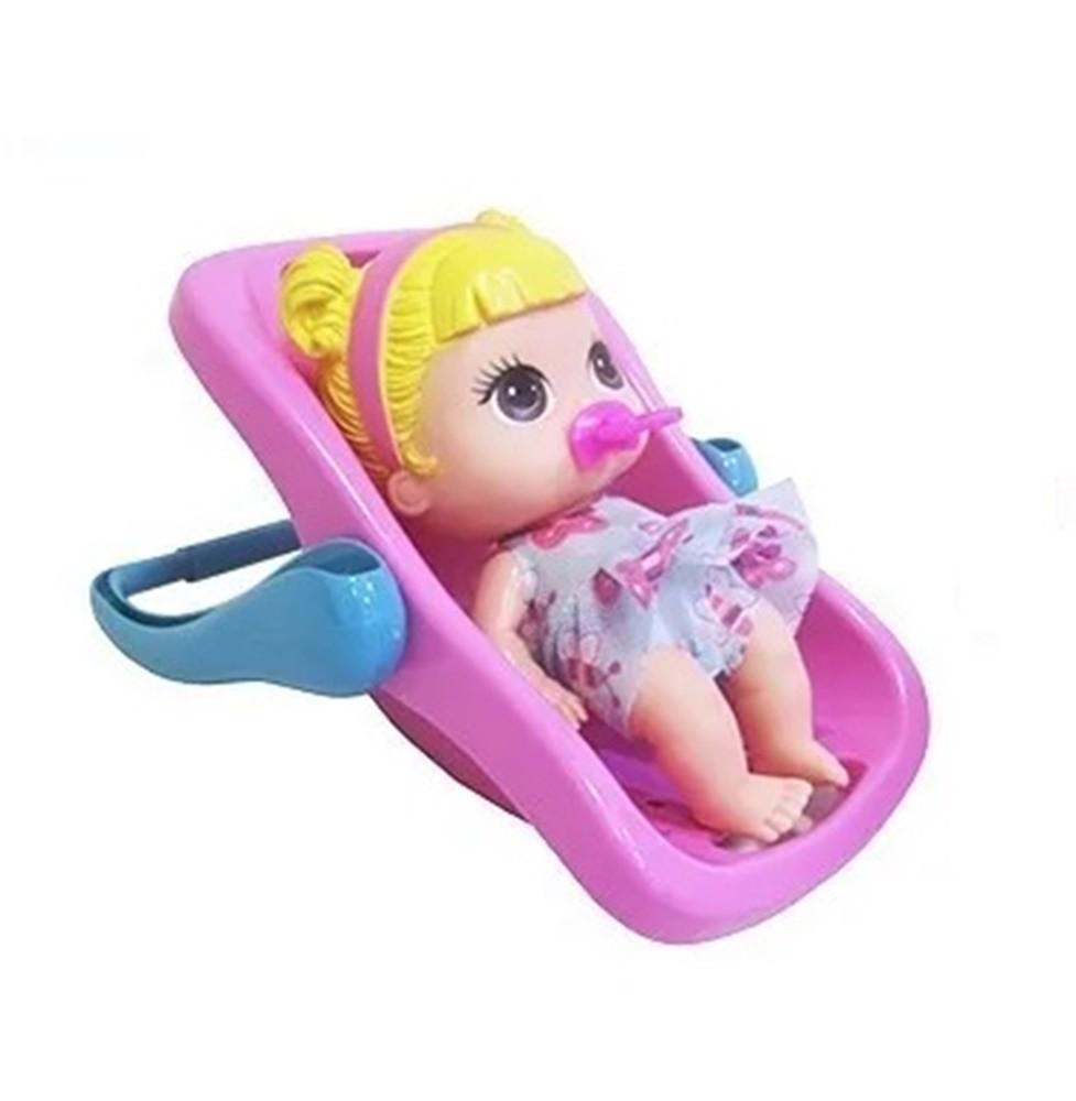 Boneca Babys Collection Mini Bebê Conforto Loira Sortidas - Super Toys