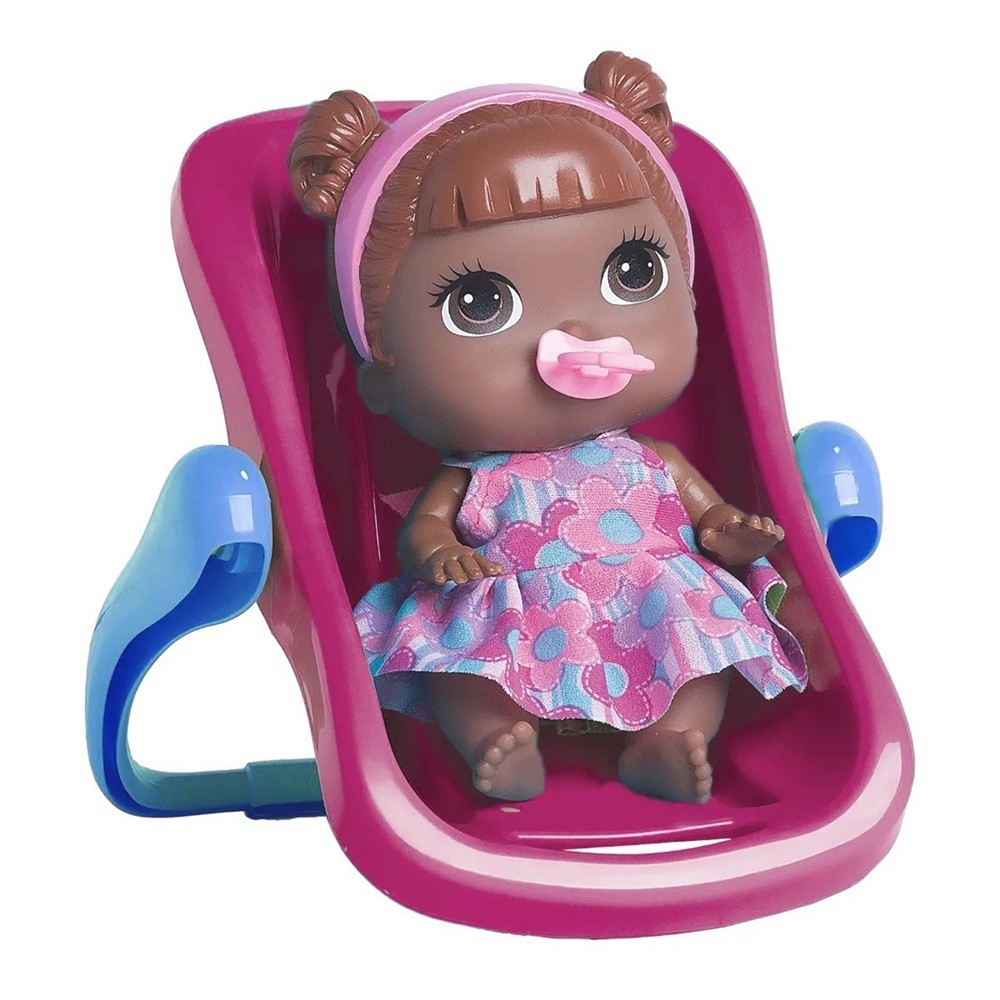 Boneca Babys Collection Mini Bebê Conforto Negra Sortidas - Super Toys
