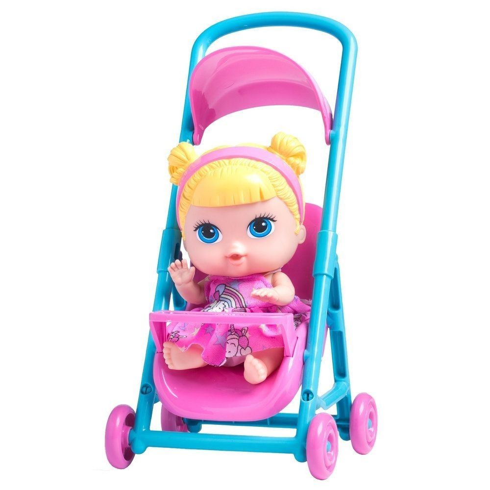 Boneca Babys Collection Mini Carrinho - Super Toys