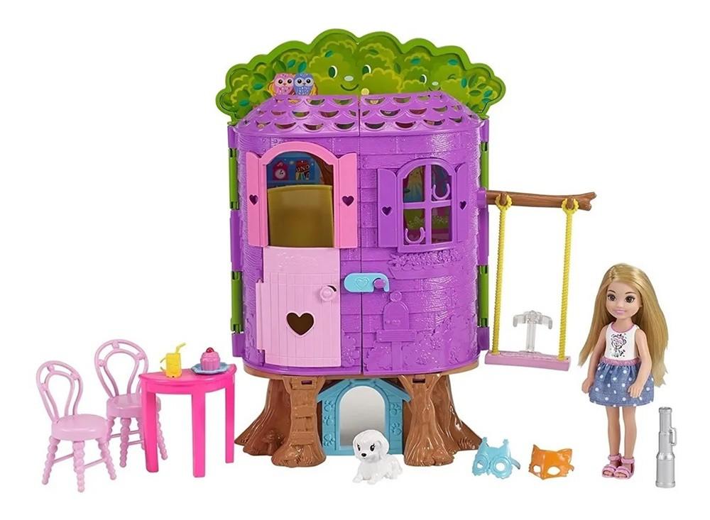 Boneca Barbie Club Chelsea Casa na Árvore - Mattel