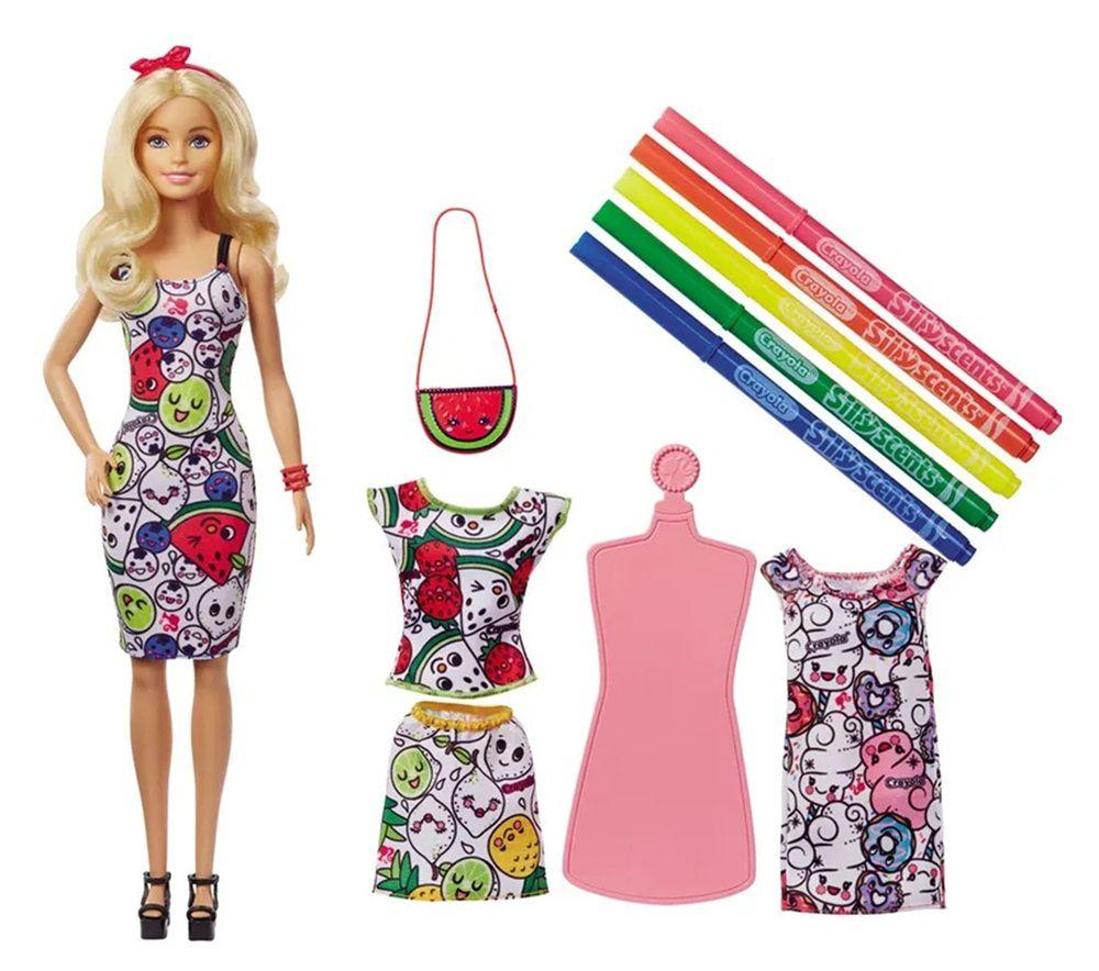 Boneca Barbie Crayola Roupas de Colorir - Mattel