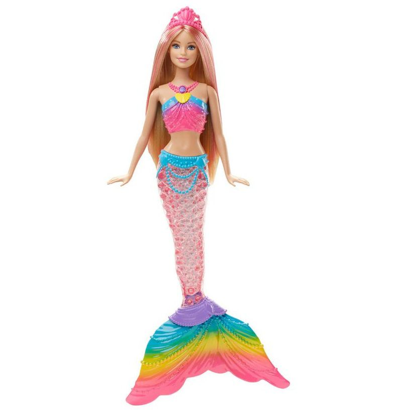 Boneca Barbie Dreamtopia Sereia Luzes Arco-íris - Mattel