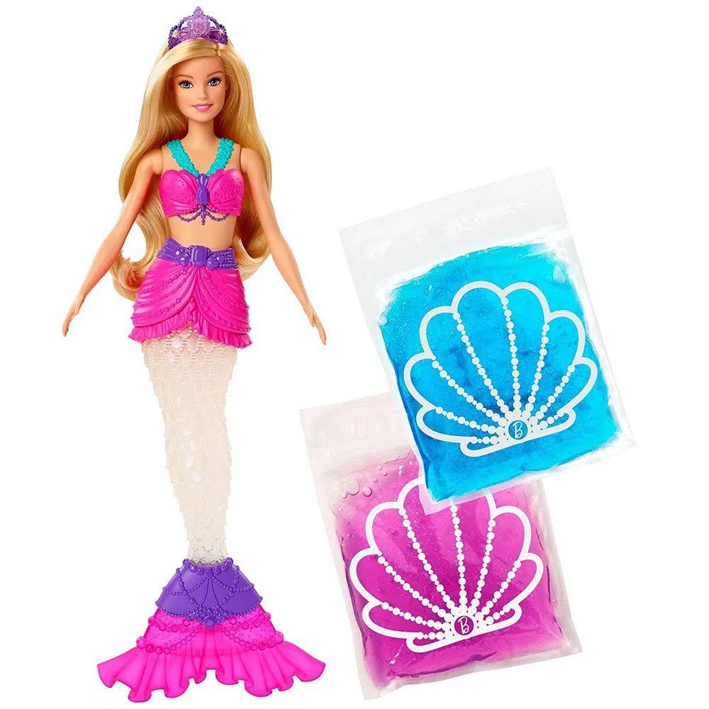 Boneca Barbie Dreamtopia Sereia Slime - Mattel