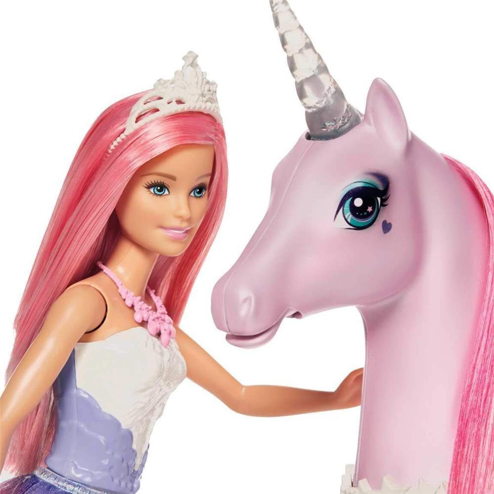 Boneca Barbie Dreamtopia Unicórnio Luzes Mágicas com Luz e Som - Mattel