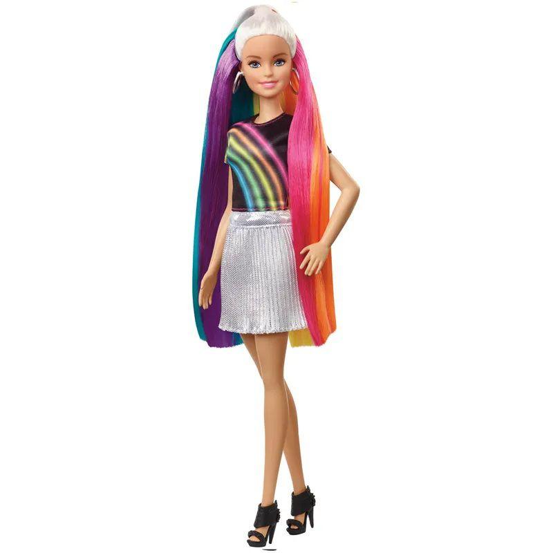 Boneca Barbie Penteados de Arco-íris - Mattel