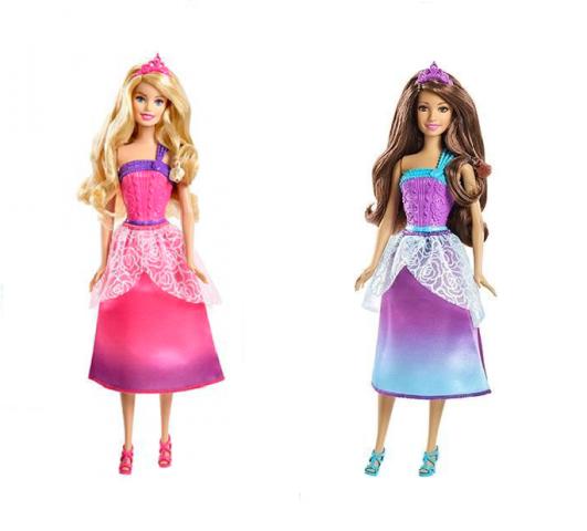 Boneca Barbie Reino dos Penteados Mágicos - Rosa/ Roxa - Mattel
