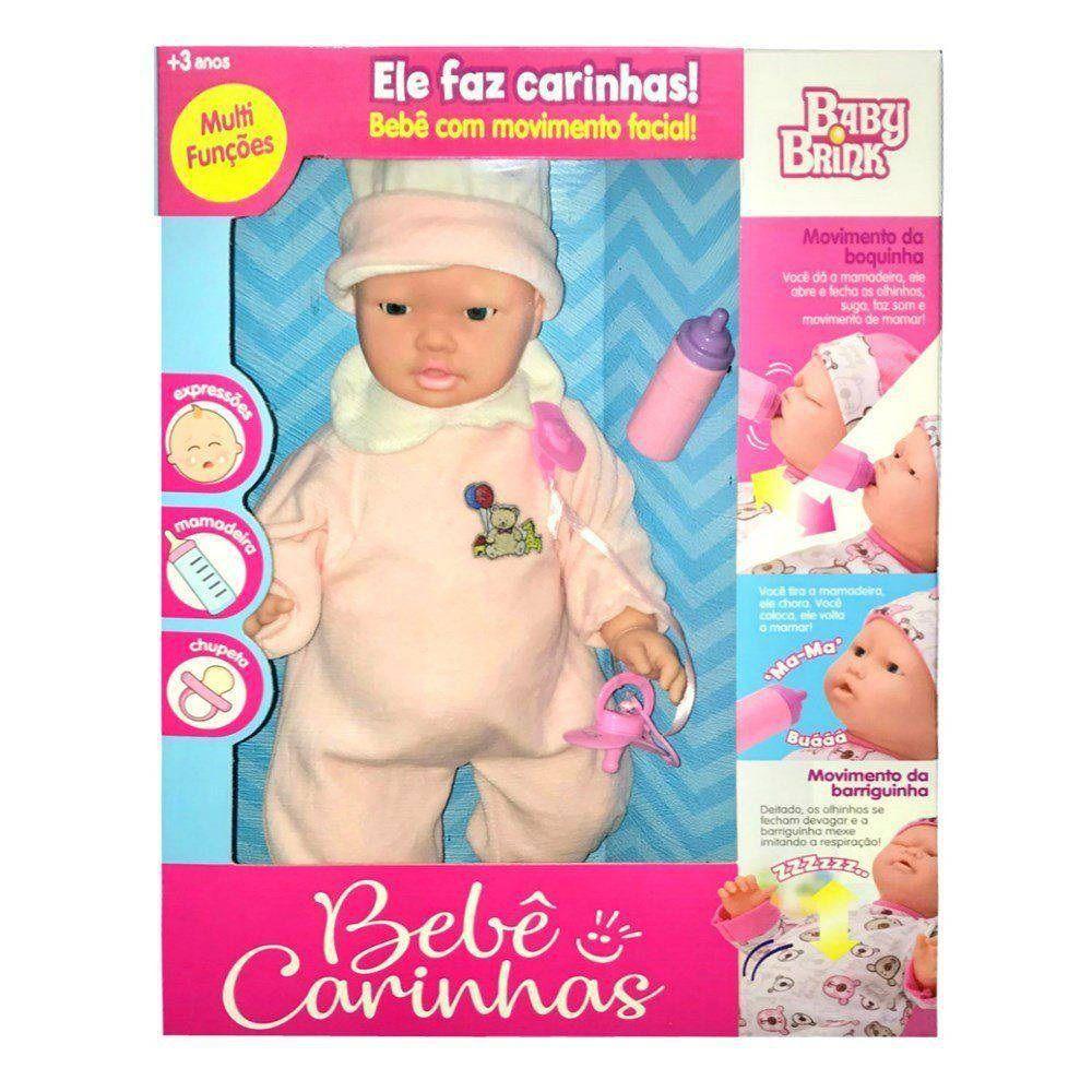 Boneca Bebê Carinhas - Baby Brink