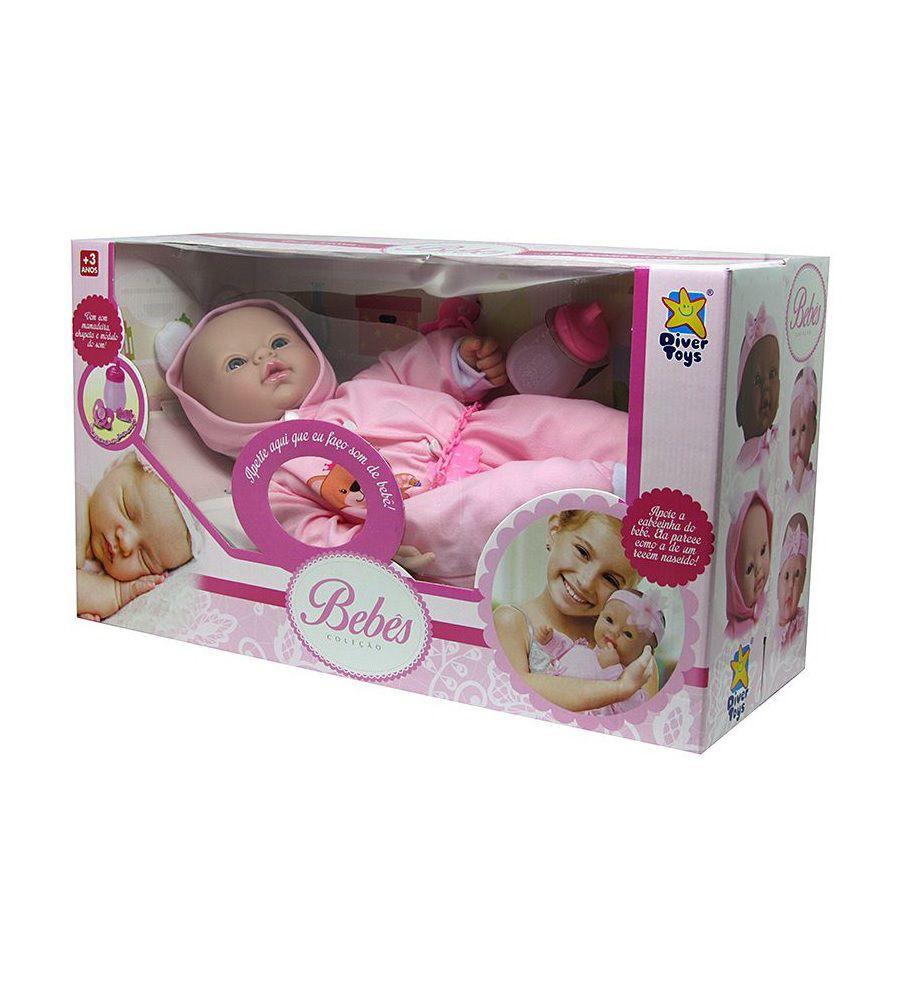Boneca Bebês Coleção com Som Sortidas - Diver Toys