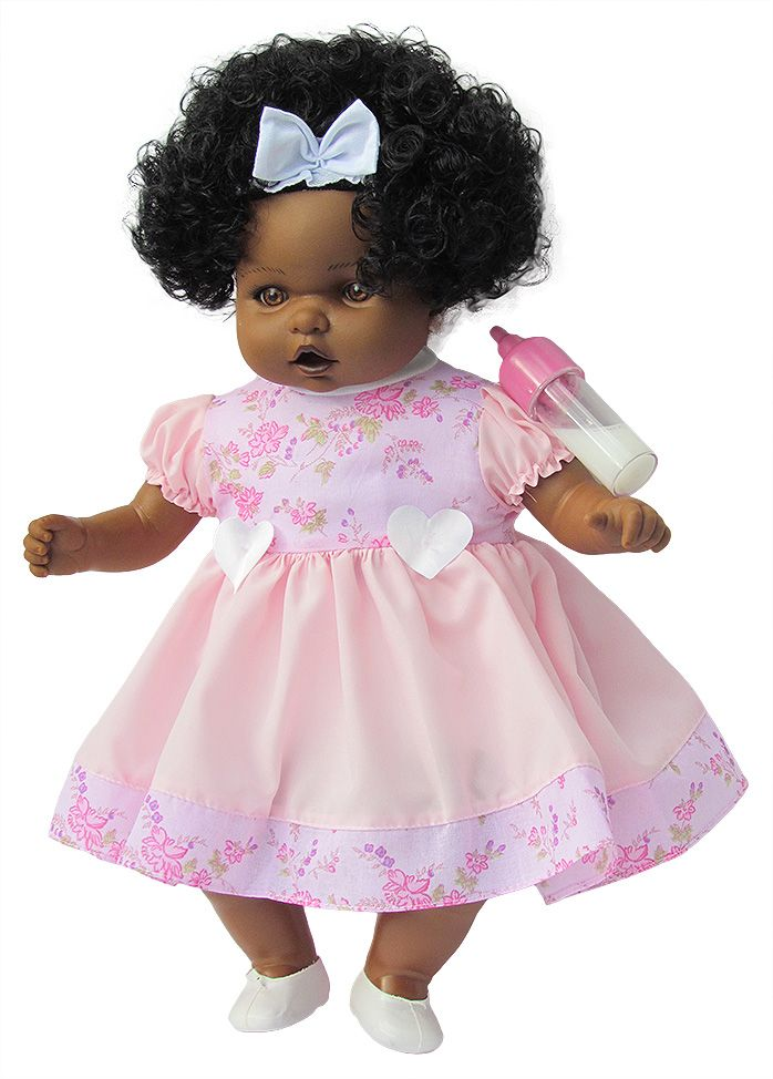 Boneca Collezione Angelina Bela Bambina Negra - Milk Brinquedos