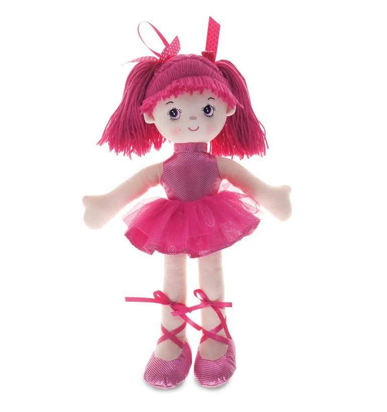 Boneca de Pano Bailarina Glitter Pink - Buba
