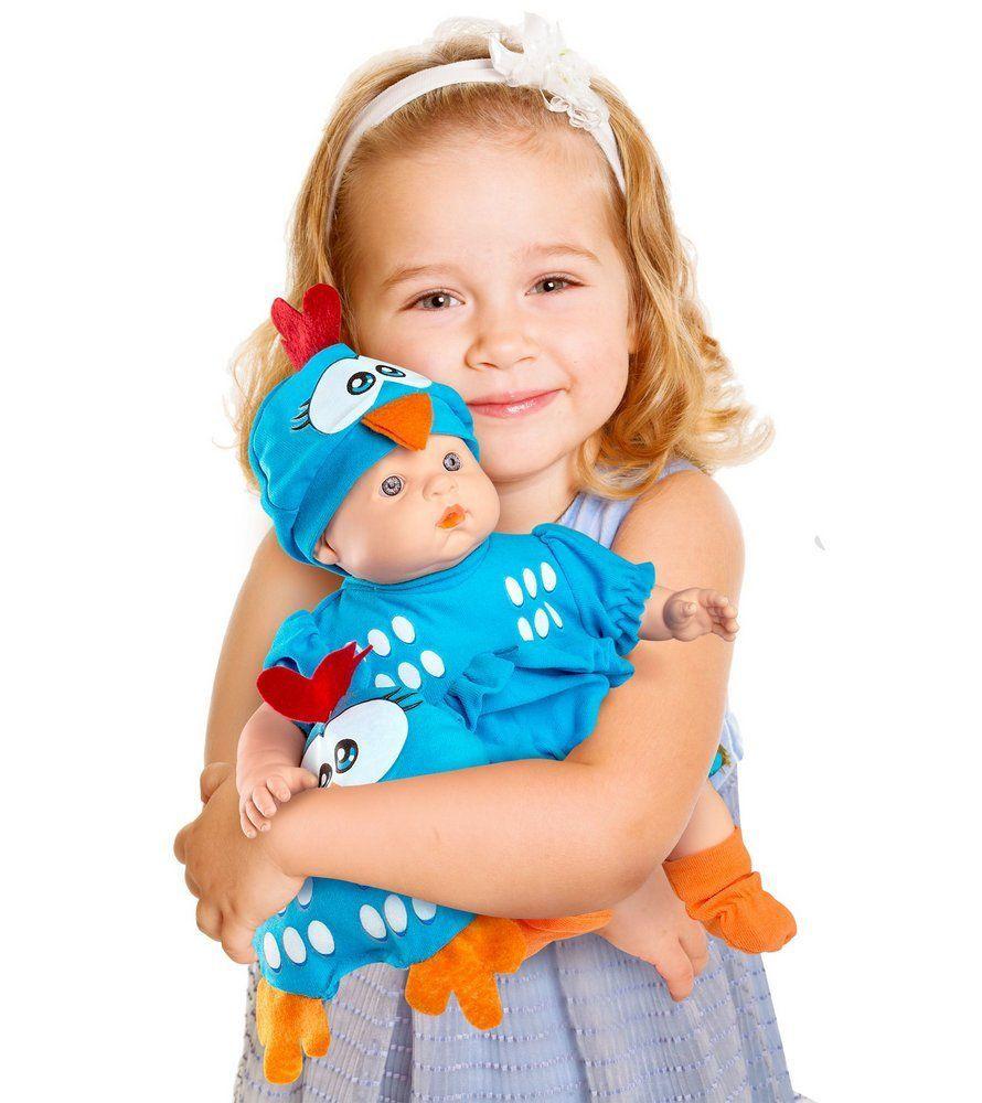 Boneca Galinha Pintadinha Mini Baby com Travesseiro - Roma Brinquedos