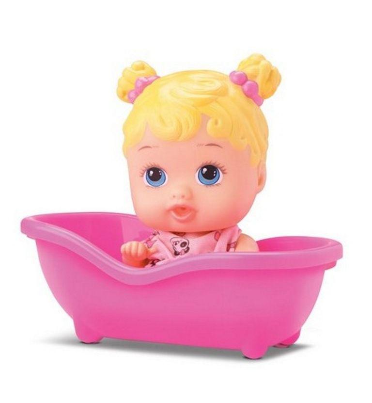 Boneca Litlle Dolls Banheirinha com Toalha - Diver Toys