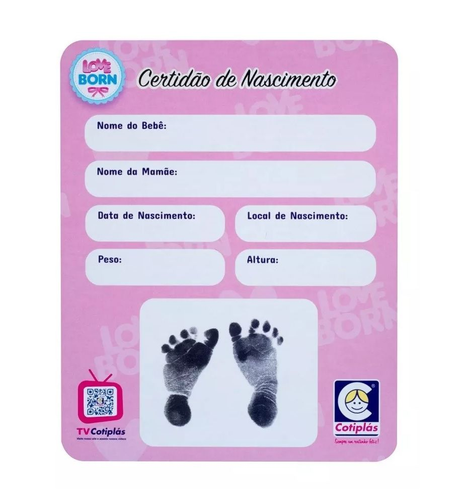 Boneca Love Born Newborn Banho Divertido - Cotiplás