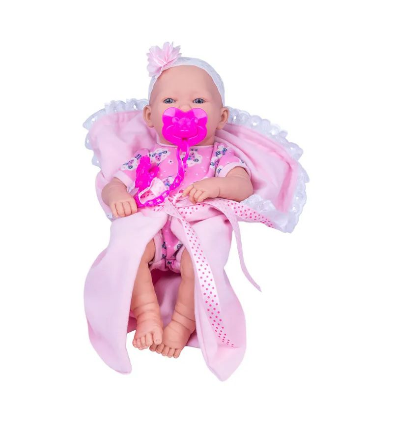 Boneca Love Born Newborn Bebezinho da Mamãe Faz Xixi - Cotiplás