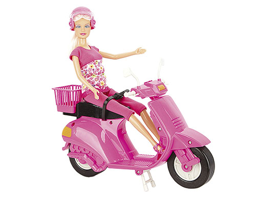 Boneca Lucy com Scooter Rosa - Braskit