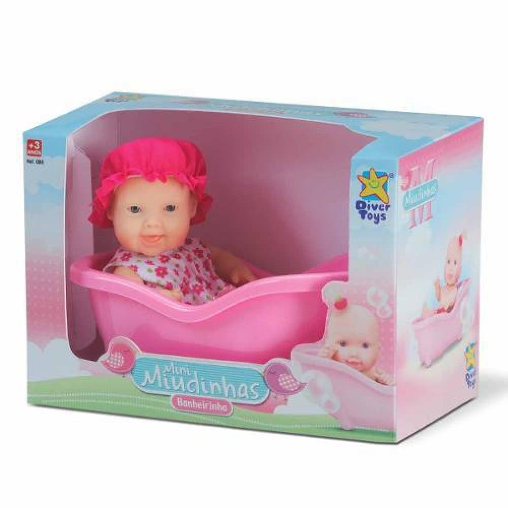 Boneca Mini Miudinhas Banheirinha - Diver Toys