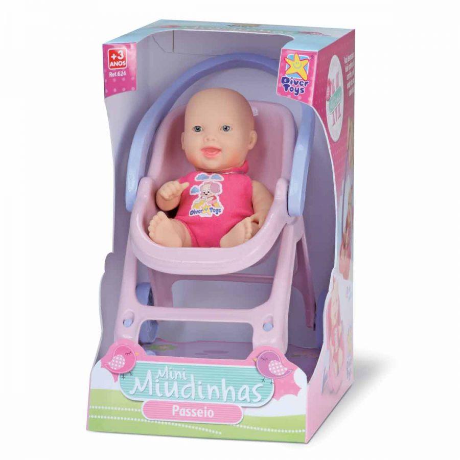 Boneca Mini Miudinhas Passeio - Diver Toys