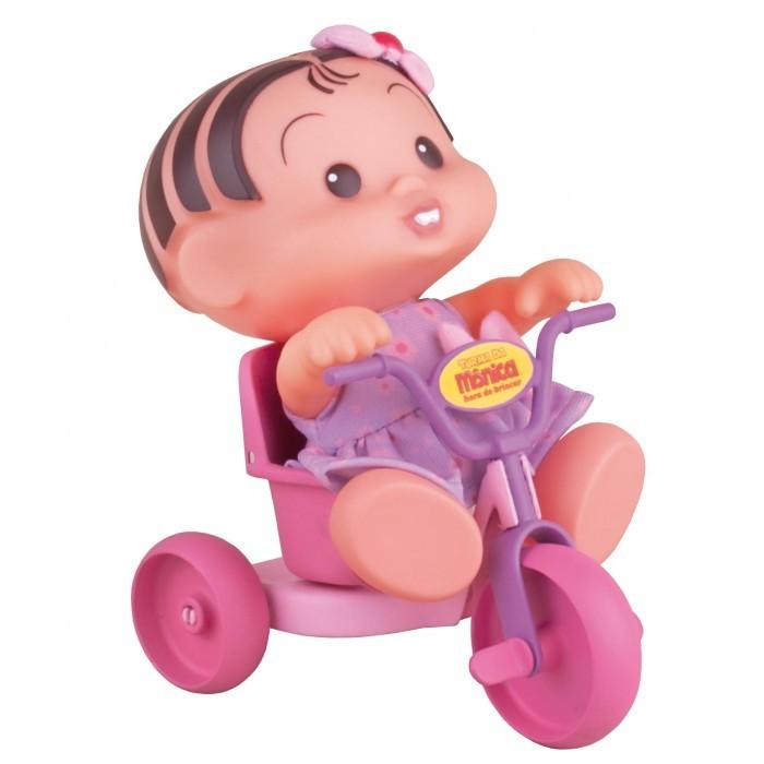 Boneca Turma da Mônica Hora de Brincar Mônica no Triciclo - Multibrink