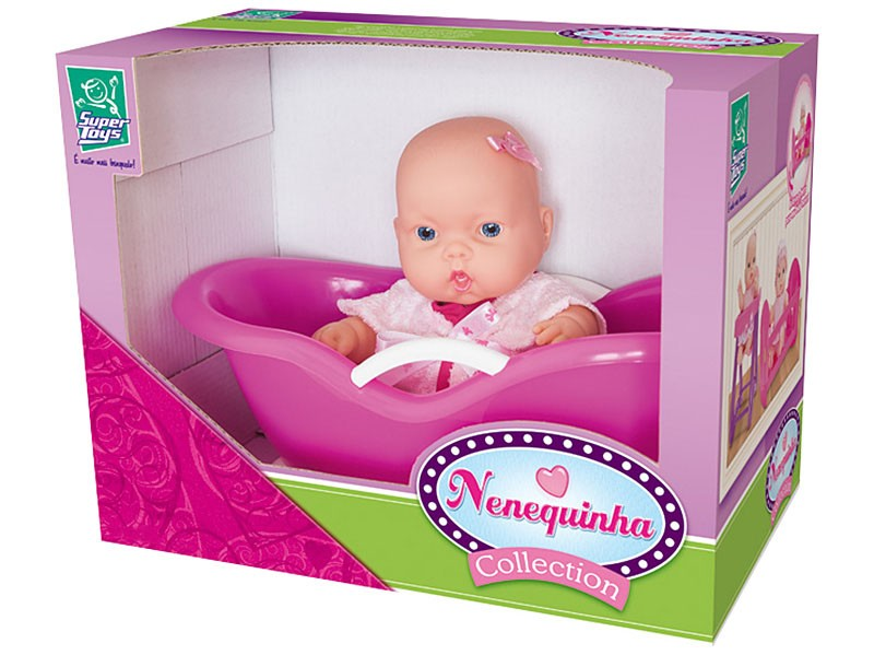 Boneca Nenequinha Collection Banheirinha - Super Toys
