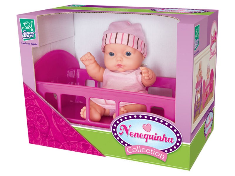 Boneca Nenequinha Collection Bercinho - Super Toys