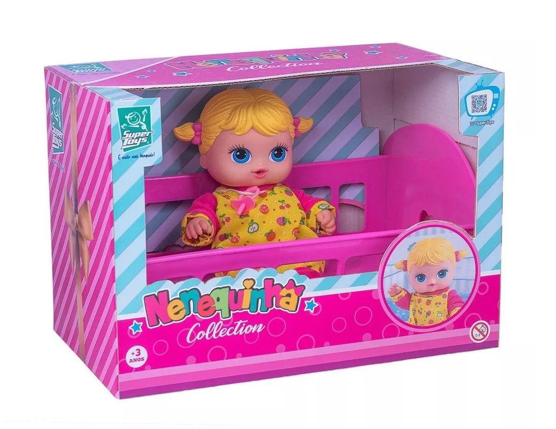 Boneca Nenequinha Collection Berço - Super Toys