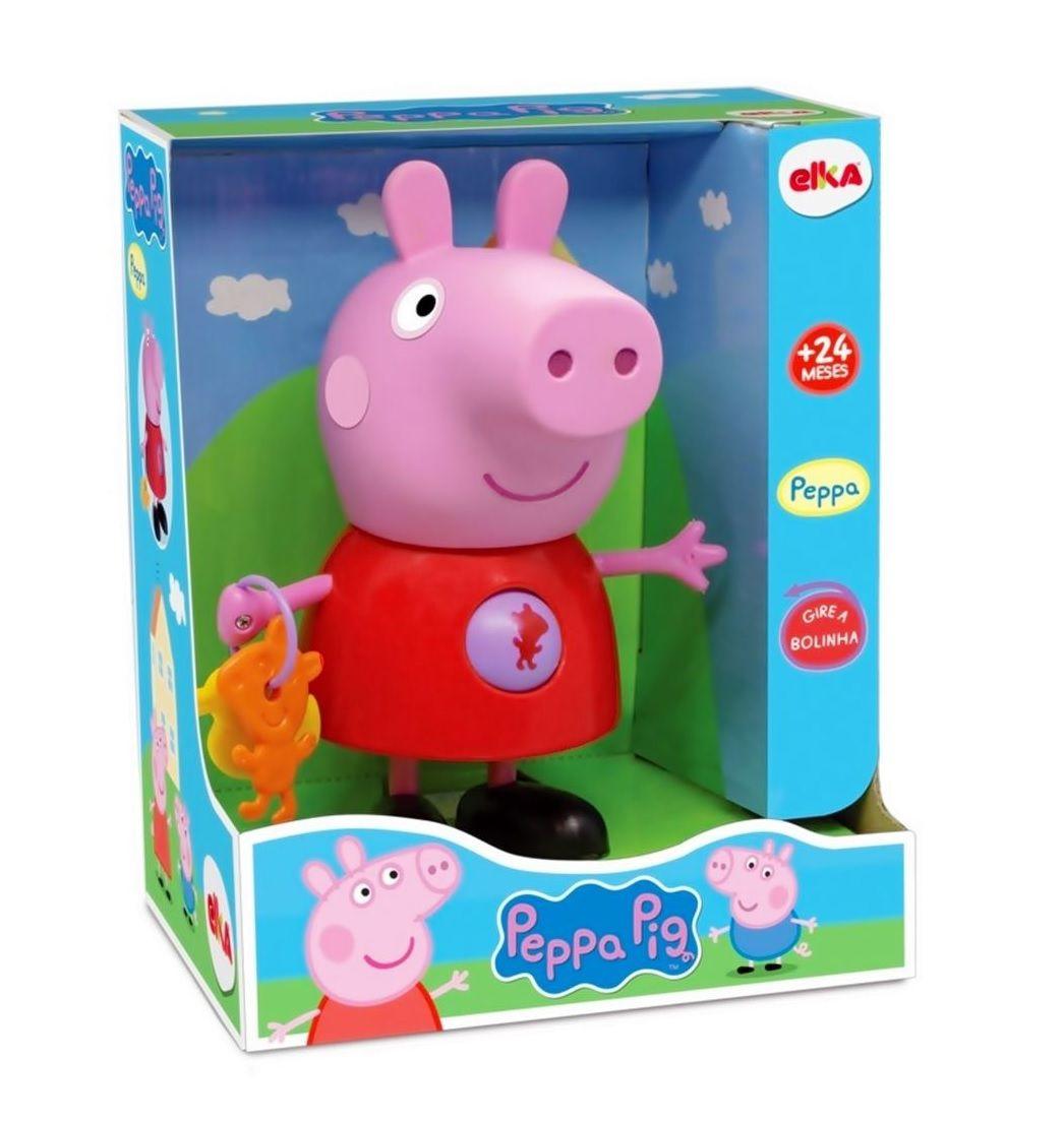 Boneca Peppa Pig com Atividades - Elka
