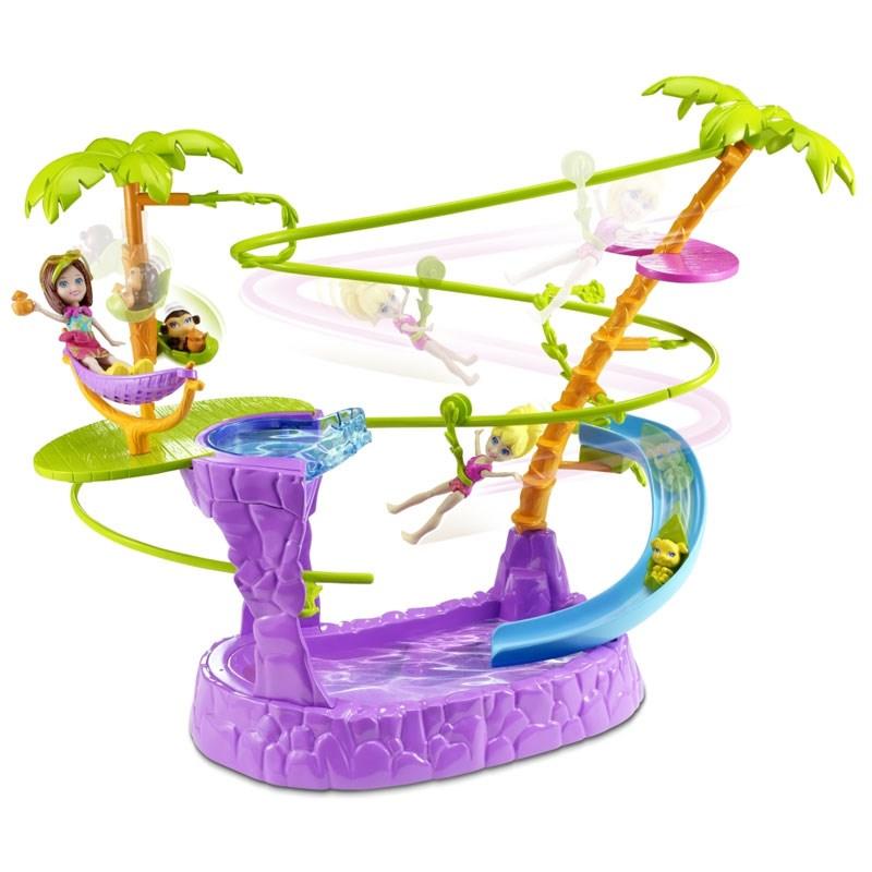 Boneca Polly Piscina e Tirolesa - Mattel