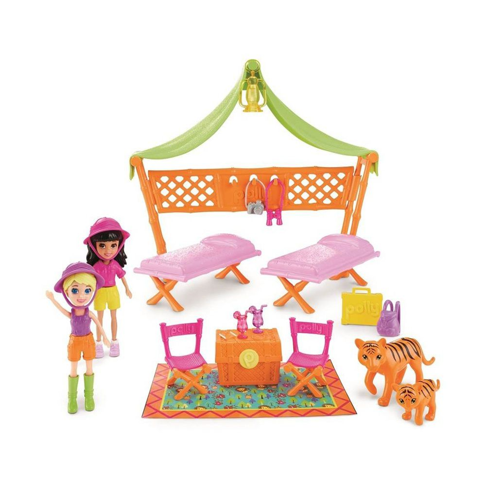 Boneca Polly Pocket Acampamento Safari - Mattel