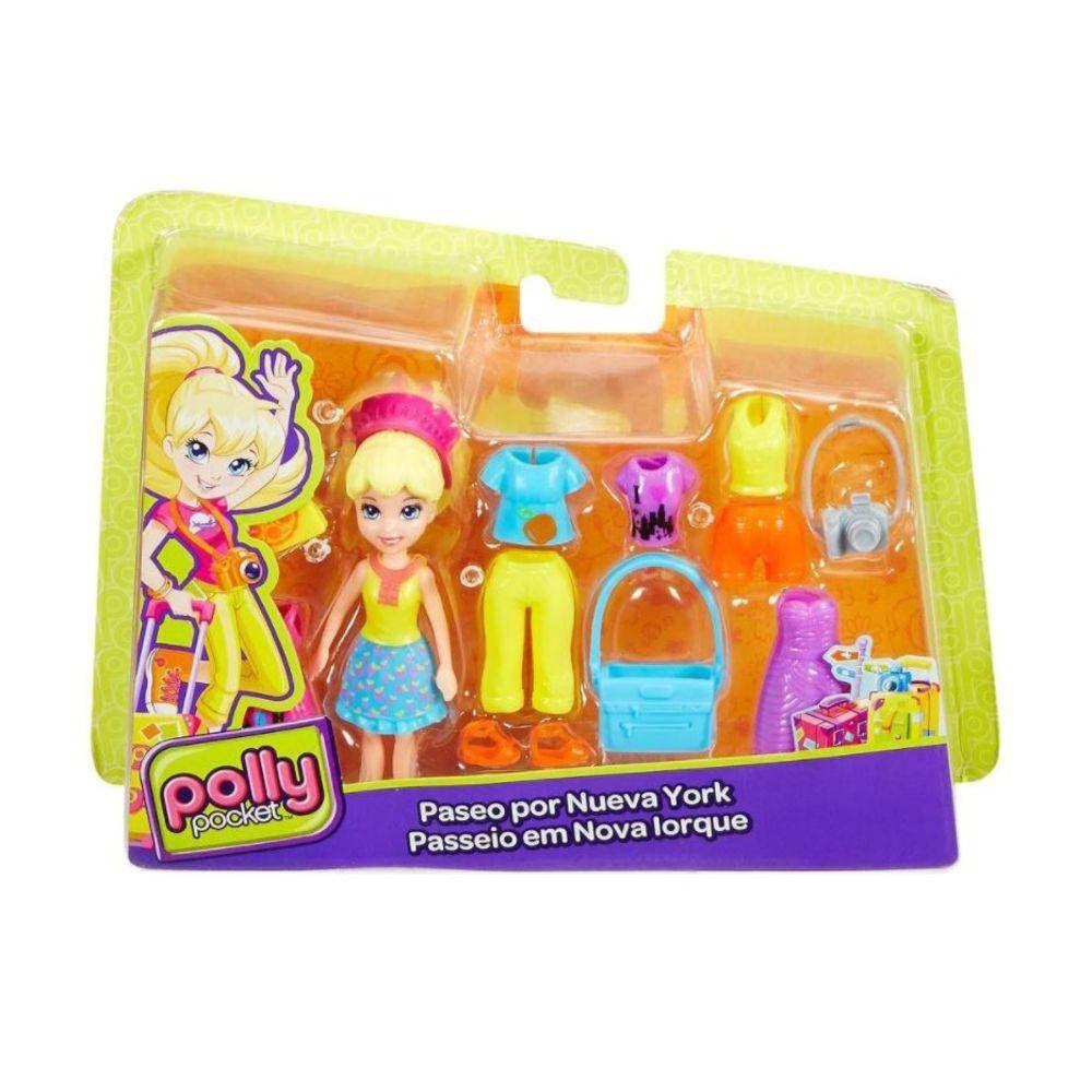 Boneca Polly Pocket Aventura na Amazônia / Passeio em Nova Iorque - Mattel