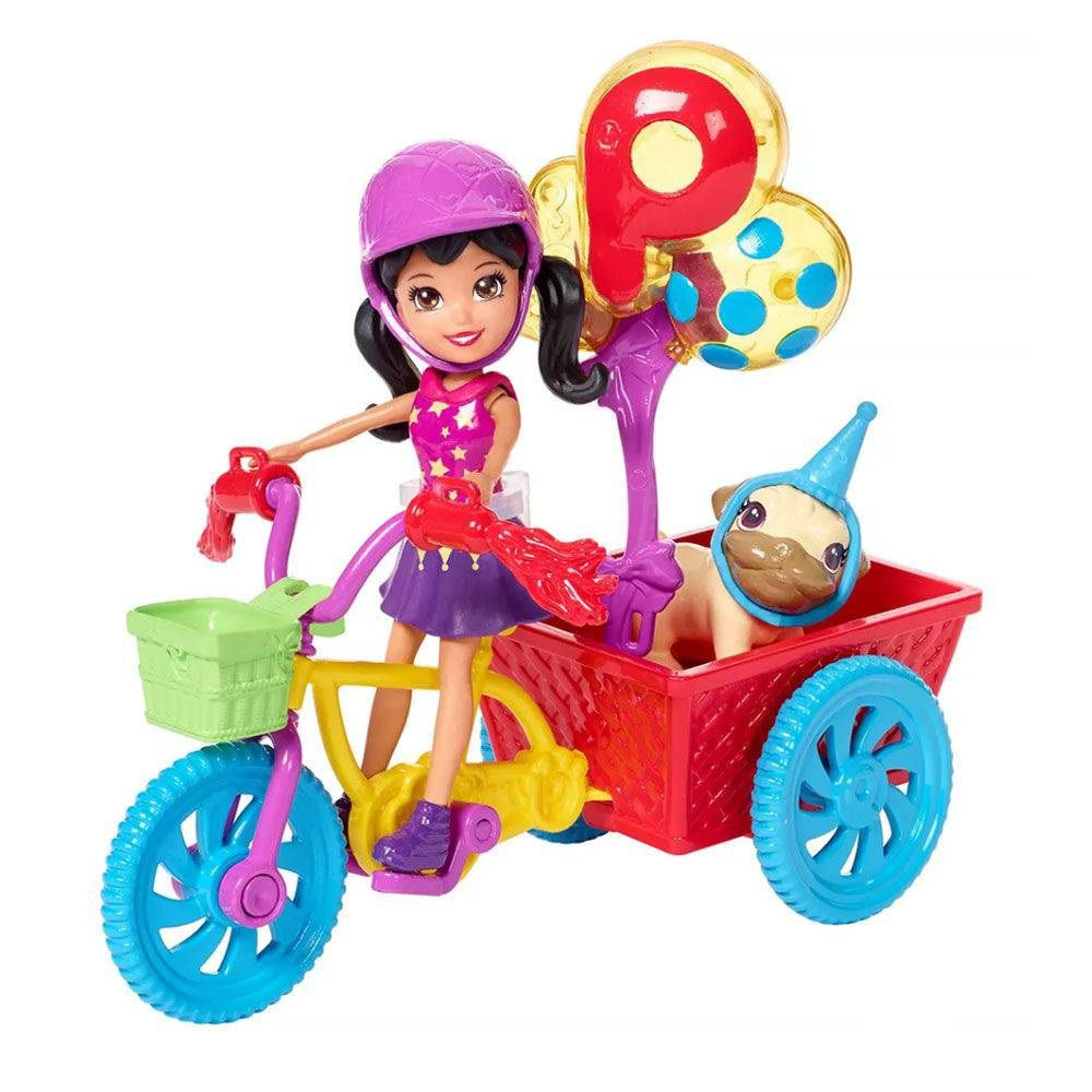 Boneca Polly Pocket Bicicleta Aventura Pet - Mattel