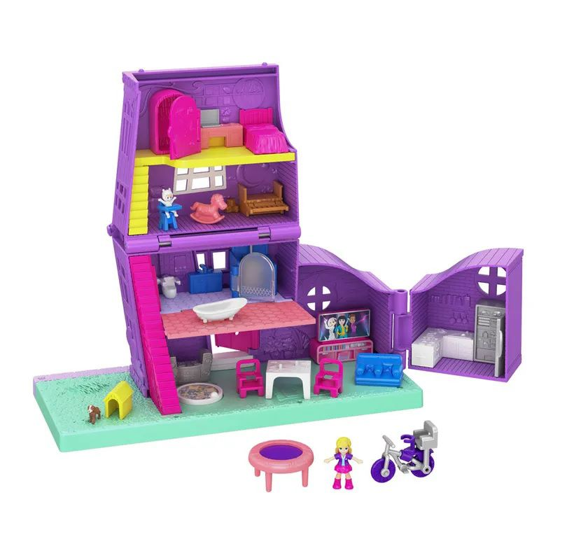 Boneca Polly Pocket Casa da Polly Pollyville - Mattel