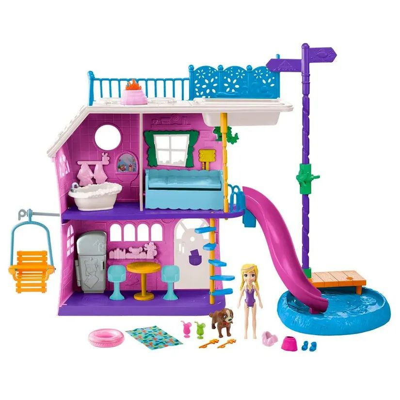 Boneca Polly Pocket Casa do Lago da Polly - Mattel