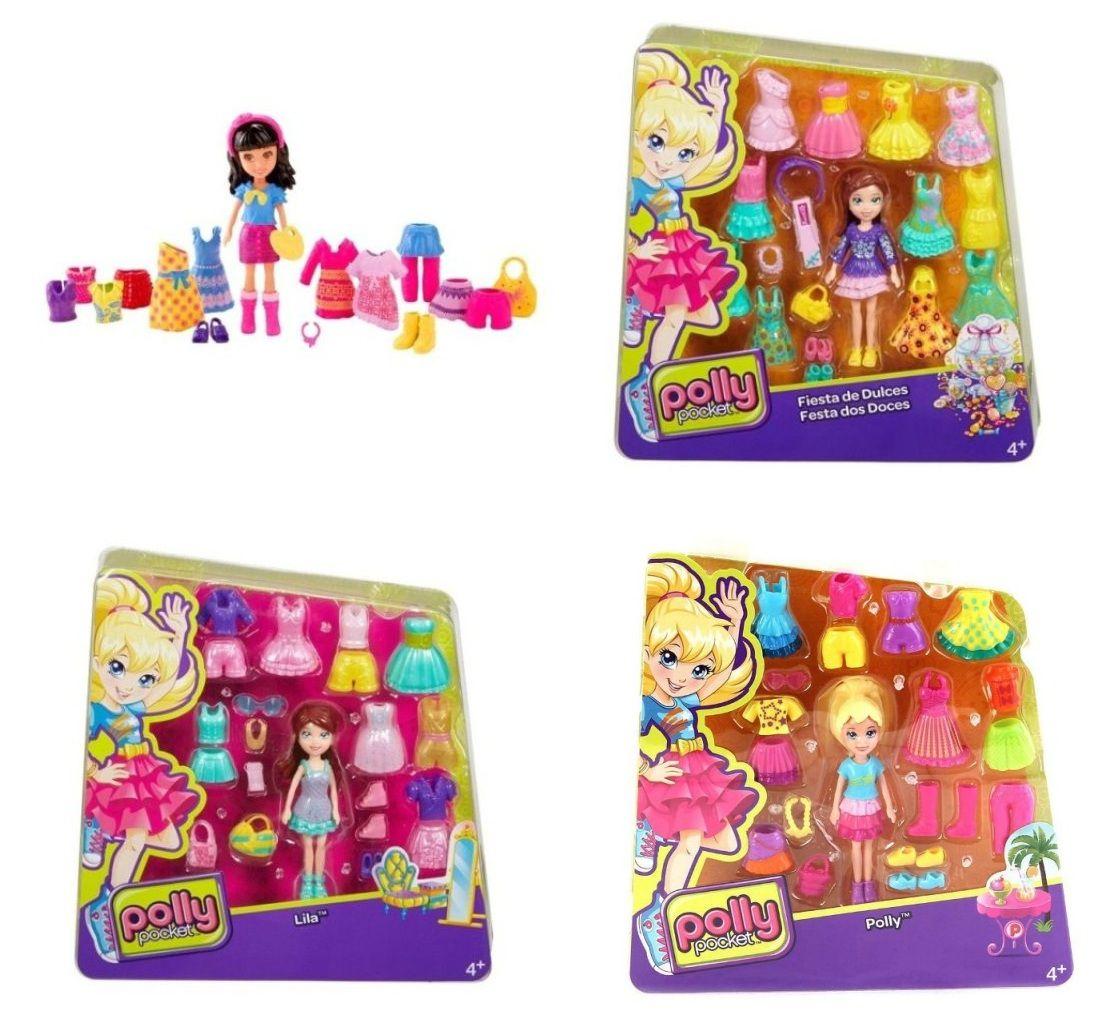 Boneca Polly Pocket com Roupinhas - Mattel