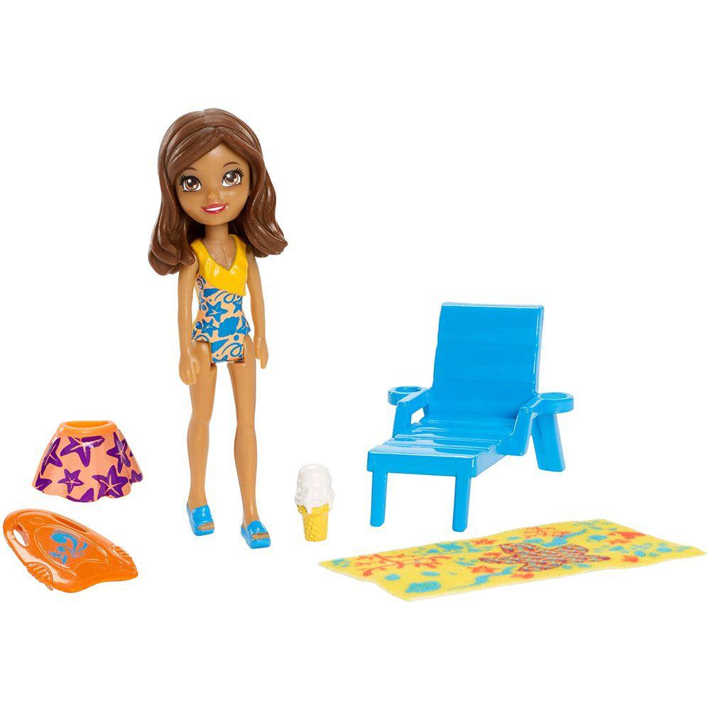 Boneca Polly Pocket Parque Aquático Diversão Aquática Shani - Mattel
