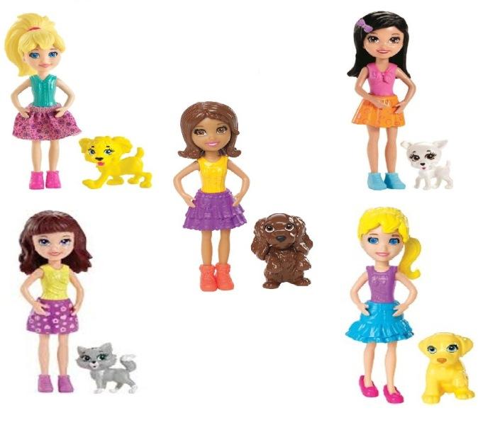 Boneca Polly Pocket e Seu Bichinho de Estimação - Crissy/ Lila/ Polly/ Shani - Mattel